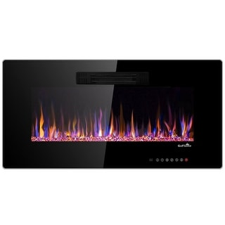 "36"" Recessed Electric Fireplace In-wall Wall Mounted Electric Heater"