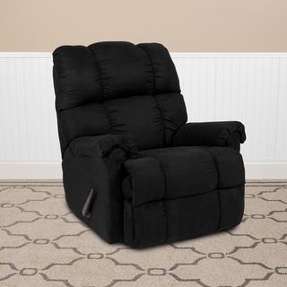 Sierra Microfiber Rocker Recliner - Living Room and Nursery Furniture