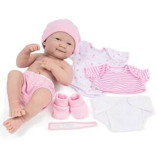"14"" La Newborn Deluxe Layette Doll Set - Pink"