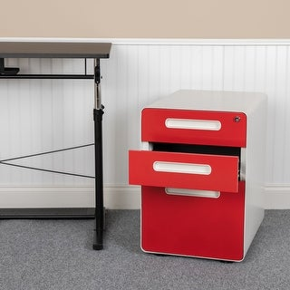 Ergonomic 3-Drawer Mobile Locking Filing Cabinet