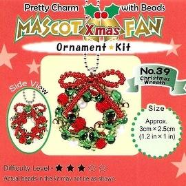Create Your Own Miyuki Mascot Bead Charm Christmas Ornament Kit - Wreath
