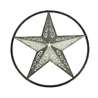 Metal Art Framed Rustic Western Star Wall Sculpture