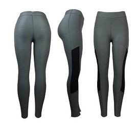 Women's Athletic Fitness Sports Yoga Pants Large/X-Large-Grey/Black