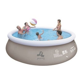 "18' x 48"" Gray and White Inflatable Above Ground Prompt Swimming Pool Set"