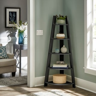 Stoyan Corner Ladder Bookcase by iNSPIRE Q Classic