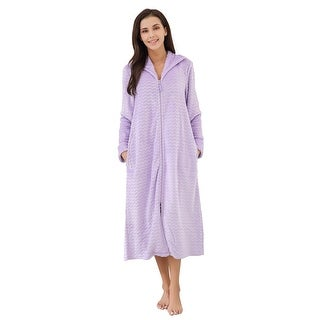 Richie House Women's Soft & Warm Lightweight Fleece Bathrobe