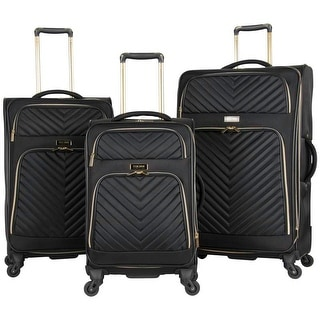 Kenneth Cole Reaction 'Chelsea' 3-Piece Chevron Quilted Expandable Spinner Luggage Set (20in/24in/28in Set)