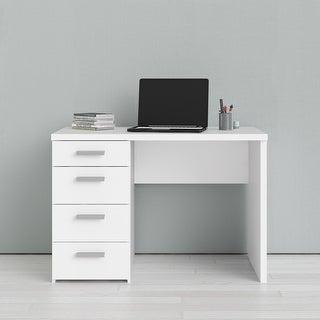 Porch & Den Wendell White 4-drawer Writing Desk