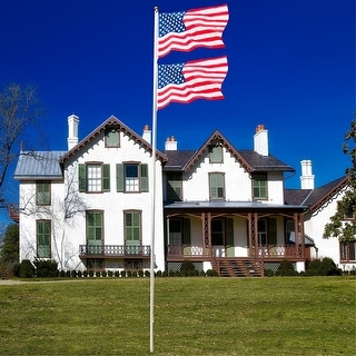 20ft Outdoor Decoration American Flag Flagpole Kit
