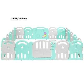 Costway 16/18/20-Panel Baby Playpen Kids Activity Center Playard