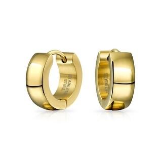Hoop Earrings Silver Rose Gold Tone Plated Stainless Steel