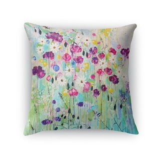 Kavka Designs purple/ green/ blue floral play accent pillow with insert