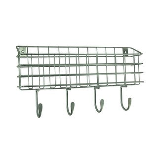 Franklin Brass Industrial Style Metal Wire Mail Holder Wall Hook Rack - 8 X 15.75 X 3 inches