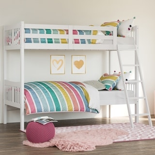 Storkcraft Caribou Solid Hardwood Twin Bunk Bed - with Ladder and Safety Rail