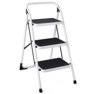 Costway 3 Step Lightweight Ladder HD Platform Foldable Stool 330 LB