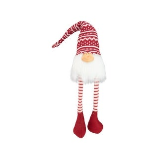 """29"""" Red and White Smiling Gnome Christmas Decoration"""