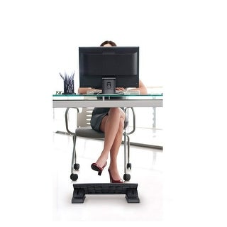 "Mount-It! Ergonomic Footrest Adjustable Angle and Height for Under Desk Support 18""x14"", Black (MI-7804)"