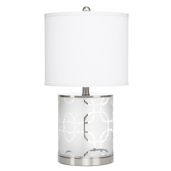 "22"" Birchfield Etched Glass Accent Lamp"