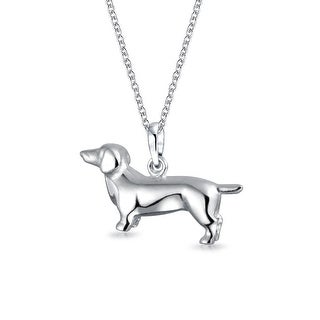 Dachshund Puppy Pet Hot Dog Necklace BFF Sterling Silver Necklace