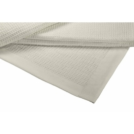 All Season Thermal Waffle Cotton Blanket With Deep Plain Edge Border
