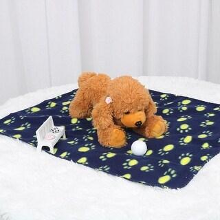 "Pet Blanket Warm Dog Cat Fleece Throw Blankets Sleep Mat Pad Bed Cover Soft Blanket for Pet Dog Kitten Puppy Red 28""x24"""