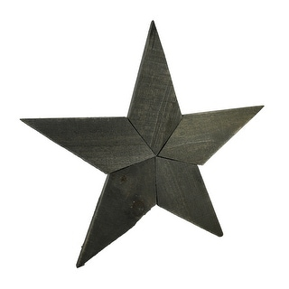 Rustic Raw Wood Patchwork Star Wall Hanging 20 Inch