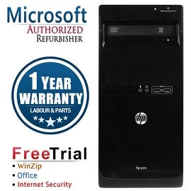 Refurbished HP Pro 3400 Tower Intel Core I3 2100 3.1G 4G DDR3 250G DVD WIN 10 Pro 64 1 Year Warranty