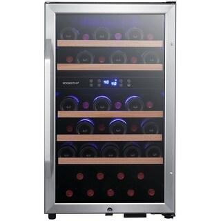 "EdgeStar CWF380DZ 20"" Wide 38 Bottle Capacity Free Standing Wine - Stainless Steel"