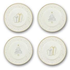 Russ Berrie Christmas Dessert Plates, Set of 4