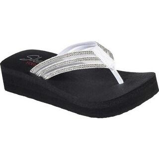 Skechers Women's Vinyasa Sugar Pie Thong Sandal White