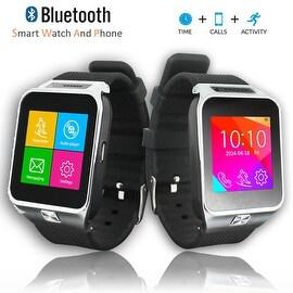Indigi® Universal Bluetooth Sync SWAP2 2-in-1 (SmartWatch and Phone) Built-In Camera + MP3 + FM Radio + Speaker + Notifications
