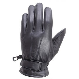 Unisex Soft Lambskin Leather Driving, Dress Fashion Everyday Gloves Black FG5