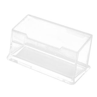 Office Desk Plastic Clear Name Card Holder Case Stand