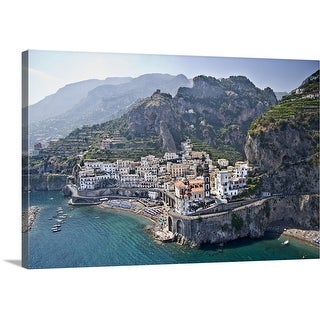 """Town at the waterfront Amalfi Atrani Amalfi Coast Salerno Campania Italy"" Canvas Wall Art"