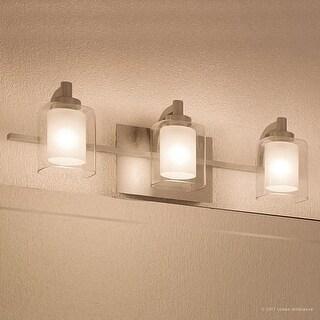 "Luxury Modern Bathroom Vanity Light, 6""H x 21""W, with Posh Style, Brushed Nickel Finish"