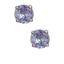 Tanzanite Earrings with Diamonds