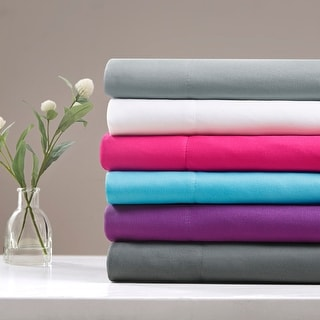 Intelligent Design Microfiber Sheet Set with Side Storage Pockets