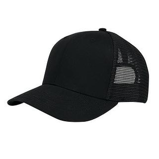 Cotton Mesh Cap - Black