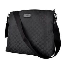 New Gucci 339569 Black Nylon GG Guccissima Crossbody Messenger Purse Bag