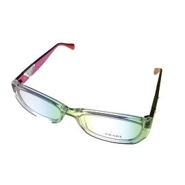 Prada Womens Ophthalmic Frame Modified Pink Clear Rectangle Plastic VPR10