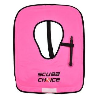 Scuba Choice Scuba Choice Adult Neon Pink Snorkel Vest with Name box, Large