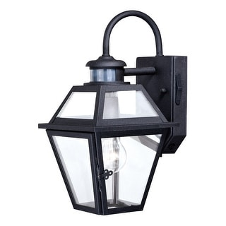 Nottingham Black Motion Sensor Dusk to Dawn Outdoor Wall Light - 7-in W x 14-in H x 8.75-in D