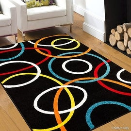 "AllStar Rugs Woven High Quality Colorfun. Burst of Colors. Contemporary. Modern. Geometric. Area Rug (7' 10"" x 10')"