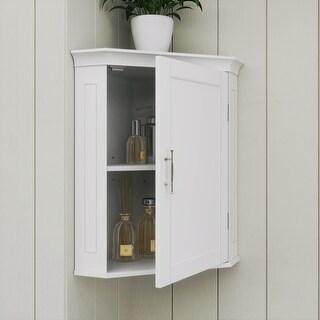 Somerset Corner Wall Cabinet, White