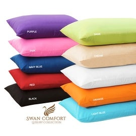 Swan Comfort Luxury Wrinkle & Fade Resistant Pillowcases ( Set of 2 )