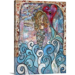 """Love Guided Her"" Canvas Wall Art"