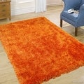 Allstar Tangerine High Density and High Quality High End Shaggy Area Rug. Very Soft Extra comfort (4' 11
