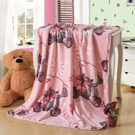 Animal Design Printed Double Sides Thick Animal Gold Mink Fleece Super Soft Baby Toddler Boys Girls Children Blanket Throw