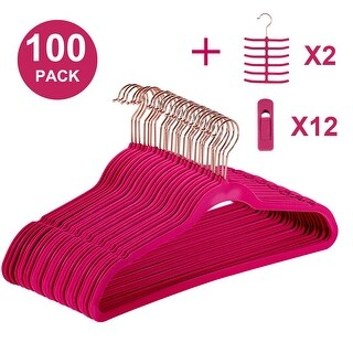 Premium Space Saving Velvet Hangers Holds Up To 10 Lbs(50/100 Packs Option)
