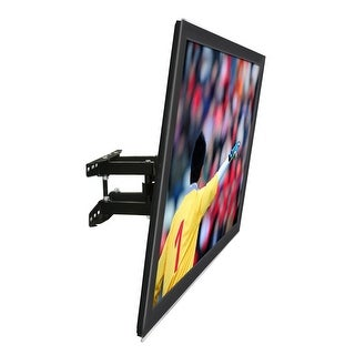 Mount-It! Articulating TV Wall Mount Corner Bracket, Stable Dual Arm Full Motion, Swivel, Tilt - black